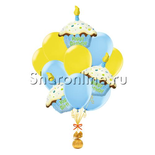 """Фото №1: Букет шаров """"Подарочек для мальчика"""""""