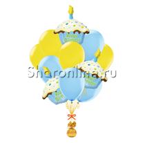 """Букет шаров """"Подарочек для мальчика"""""""
