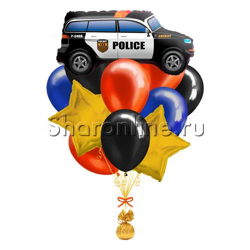 """Фото №1: Букет шаров """"Полицейская машина"""""""