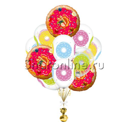 """Фото №1: Букет шаров """"Пончики"""""""