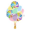 """Фото №1: Букет шаров """"Разноцветные леденцы"""""""