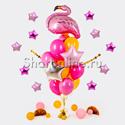 """Фото №1: Букет шаров """"Розовые мечты"""""""