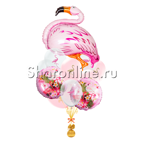 "Фото №1: Букет шаров ""Розовый фламинго"""