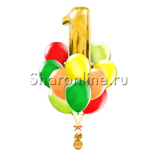 """Фото №1: Букет шаров """"С 1 Сентября!"""""""