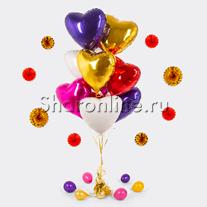 """Букет шаров  """"Сердца для любимой"""""""