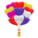 """Фото №2: Букет шаров """"Сердца для любимой"""""""