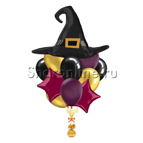 """Фото №1: Букет шаров """"Шляпа ведьмы"""""""