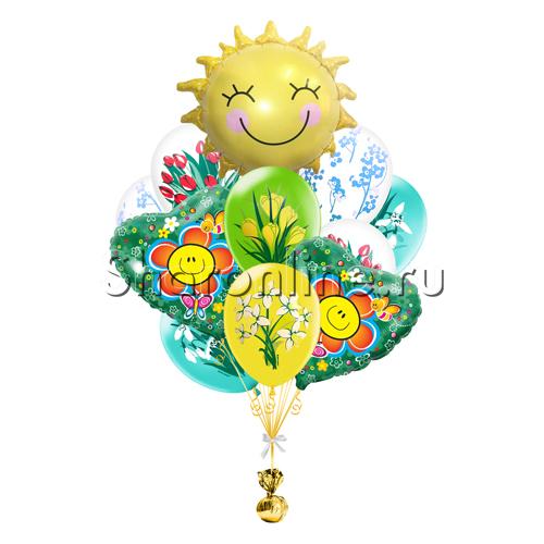 """Фото №2: Букет шаров """"Солнечный день"""""""