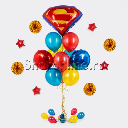 "Фото №2: Букет шаров ""Супермен"""