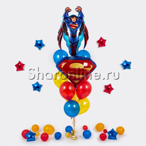 "Фото №1: Букет шаров ""Супермен"""