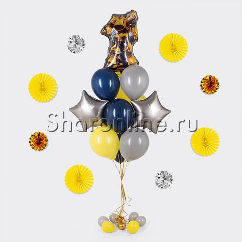 """Фото №1: Букет шаров """"Трансформеры"""" Бамблби"""