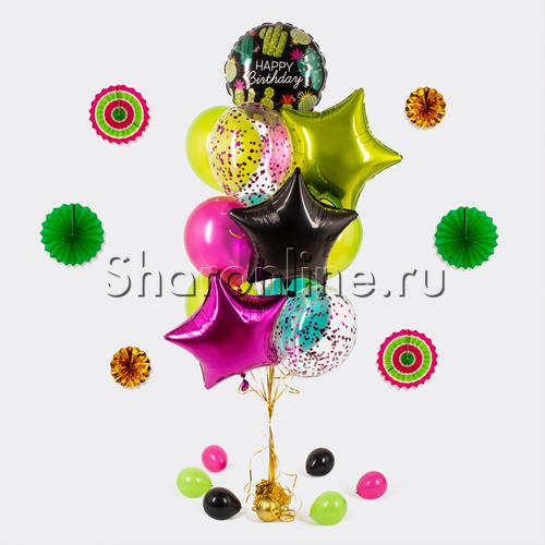 """Фото №1: Букет шаров """"Тропический день рождения"""""""