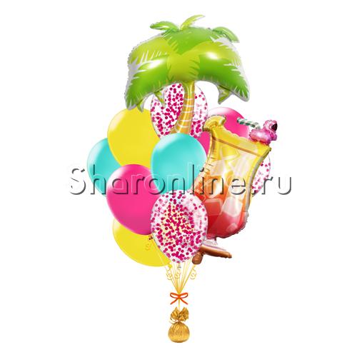 """Фото №1: Букет шаров """"Тропический коктейль"""""""