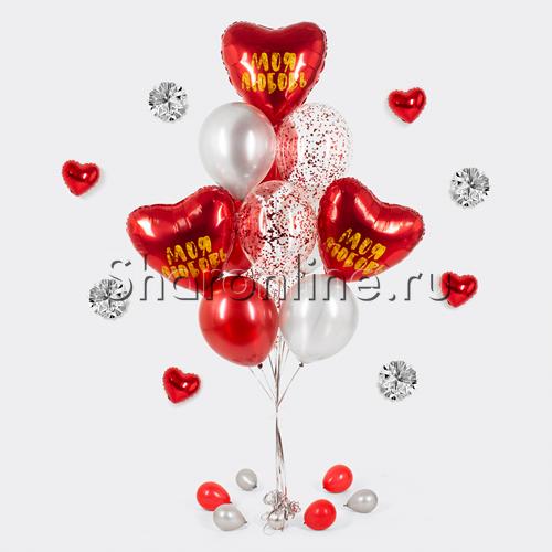 """Фото №1: Букет шаров """"Ты в моем сердце"""""""