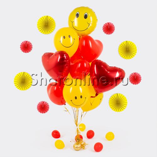 """Фото №1: Букет шаров """"Улыбка любви"""""""