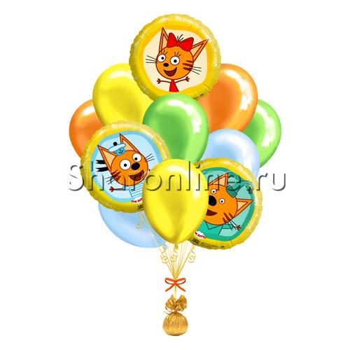 """Фото №1: Букет шаров """"Веселые Три Кота"""""""