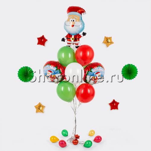 """Фото №2: Букет шаров """"Веселый Санта"""""""