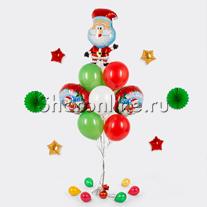 """Букет шаров """"Веселый Санта"""""""
