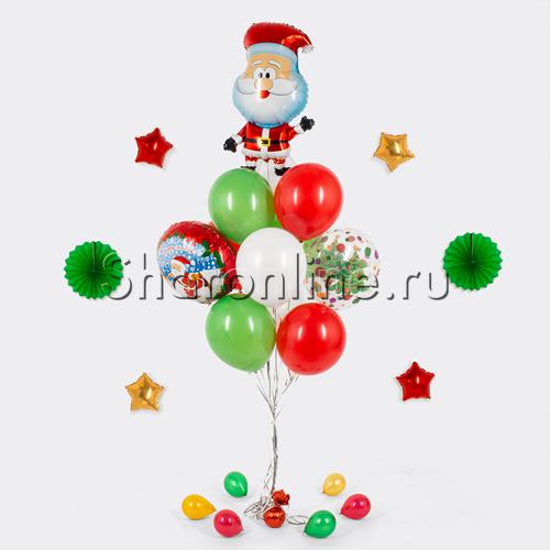 """Фото №1: Букет шаров """"Веселый Санта"""""""