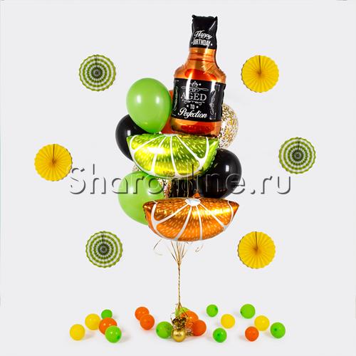 """Фото №1: Букет шаров """"Виски-сауэр"""""""