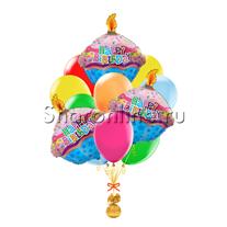 """Букет шаров """"Вкусный день рождения"""""""