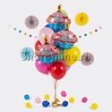 """Фото №1: Букет шаров """"Вкусный день рождения"""""""