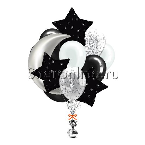 Фото №1: Букет шаров Звездная ночь