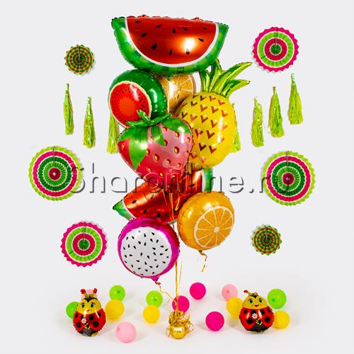 """Фото №1: Букет """"Сочные фрукты"""""""