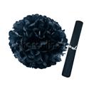 Фото №1: Бумажный Помпон черный 28 см