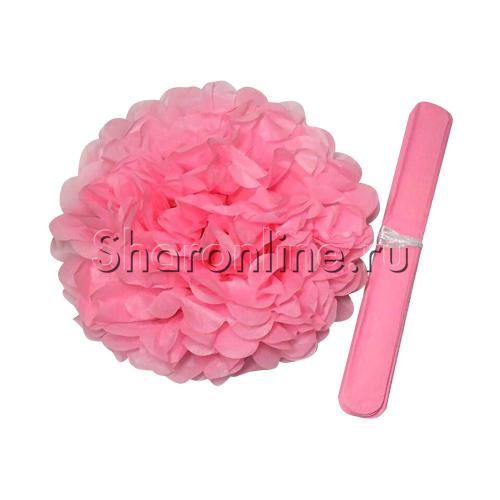 Фото №1: Бумажный Помпон розовый 28 см
