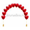Фото №1: Цепочка из фольгированных красных сердец