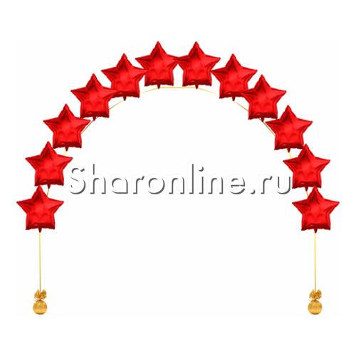 Фото №1: Цепочка из фольгированных красных звезд