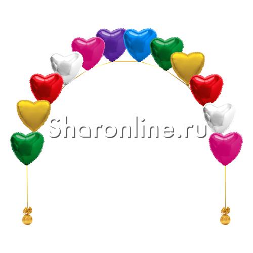 Фото №1: Цепочка из фольгированных сердец ассорти