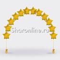 Фото №1: Цепочка из фольгированных золотых звезд