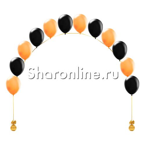 """Фото №1: Цепочка из шаров """"Оранжево-черная"""""""