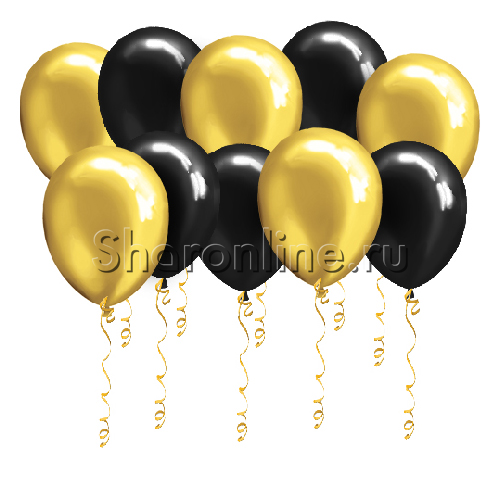 Фото №1: Черно-золотые шары