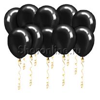 Черные шары металлик