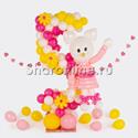 "Фото №1: Цифра из шаров с ""Hello Kitty"""