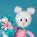 "Фото №3: Цифра из шаров с ""Hello Kitty"""