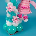 "Фото №4: Цифра из шаров с ""Hello Kitty"""