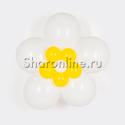 Фото №1: Цветок из шаров белый