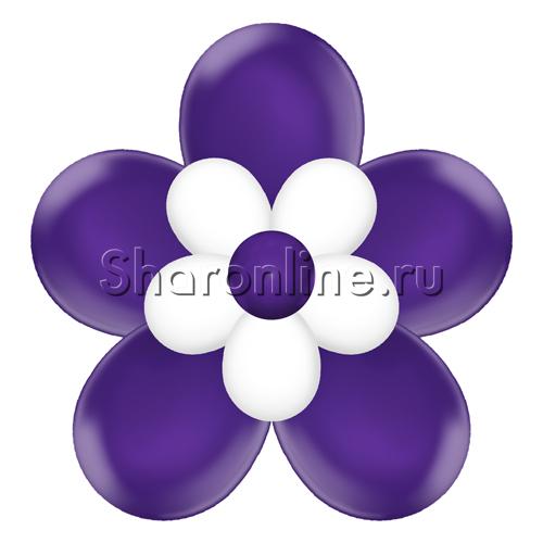 Фото №1: Цветок из шаров фиолетовый