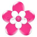 Фото №2: Цветок из шаров фуксия