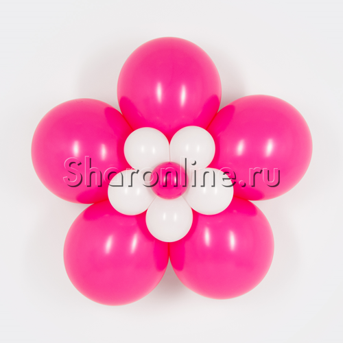 Фото №1: Цветок из шаров фуксия