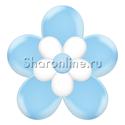 Фото №2: Цветок из шаров голубой