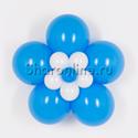 Фото №1: Цветок из шаров голубой