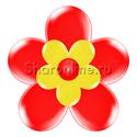 Фото №2: Цветок из шаров красный