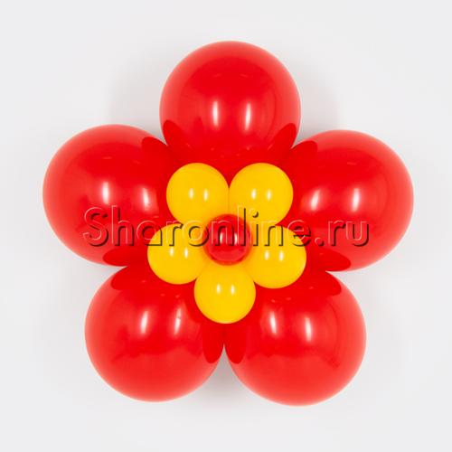 Фото №1: Цветок из шаров красный