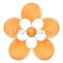 Фото №2: Цветок из шаров оранжевый