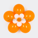 Фото №1: Цветок из шаров оранжевый